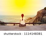 sea view from on tropical beach | Shutterstock . vector #1114148381