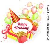 card for congratulations ... | Shutterstock .eps vector #111414941
