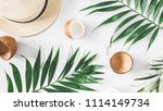summer composition. tropical... | Shutterstock . vector #1114149734