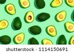 fresh avocado pattern on a... | Shutterstock . vector #1114150691
