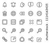 set of basic ui ux icons  with...