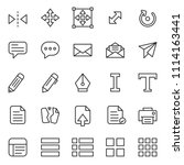 set of basic ui ux icons  with... | Shutterstock .eps vector #1114163441