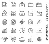 set of basic ui ux icons  with...