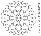 easy mandalas for relaxation ... | Shutterstock . vector #1114170599