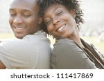 young african american couple... | Shutterstock . vector #111417869