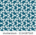 seamless pattern with symmetric ... | Shutterstock .eps vector #1114187165