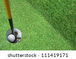 golf hole in one | Shutterstock . vector #111419171