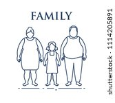 family. mom  dad and daughter.... | Shutterstock .eps vector #1114205891