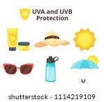 vector cartoon style set of uv... | Shutterstock .eps vector #1114219109
