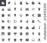 prehistoric elements vector... | Shutterstock .eps vector #1114221254