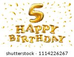 raster copy  happy birthday... | Shutterstock . vector #1114226267