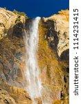 beautiful bridalveil falls is... | Shutterstock . vector #1114231415