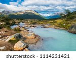 beautiful picture of brook on a ... | Shutterstock . vector #1114231421