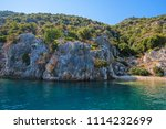 sea  near ruins of the ancient... | Shutterstock . vector #1114232699