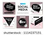 modern promotion square web... | Shutterstock .eps vector #1114237151