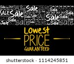 lowest price guaranteed word... | Shutterstock .eps vector #1114245851