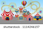 a circus and fun fair... | Shutterstock .eps vector #1114246157