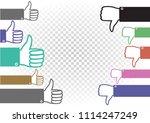like and dislike battle... | Shutterstock .eps vector #1114247249