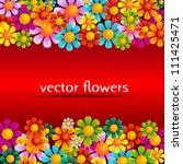 summer flower banner | Shutterstock .eps vector #111425471