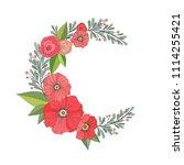 beautiful romantic crescent...   Shutterstock .eps vector #1114255421