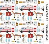ambulance vector medicine... | Shutterstock .eps vector #1114255991