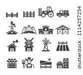 farm icon set | Shutterstock .eps vector #1114257254