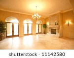a huge fireplace in a luxury... | Shutterstock . vector #11142580