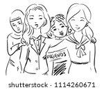 doodle illustration... | Shutterstock .eps vector #1114260671