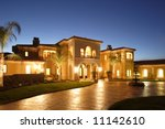 a huge new luxury home at sunset   Shutterstock . vector #11142610