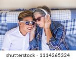 couple young and old... | Shutterstock . vector #1114265324