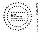 50 years anniversary... | Shutterstock .eps vector #1114268774
