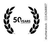 50 years anniversary...   Shutterstock .eps vector #1114268807
