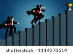 businessmen compete go to up... | Shutterstock .eps vector #1114270514