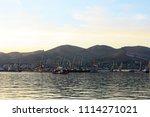 seaport on the horizon   Shutterstock . vector #1114271021
