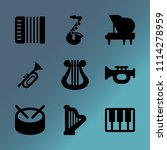 vector icon set about music...   Shutterstock .eps vector #1114278959