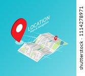 maps   navigation location map... | Shutterstock .eps vector #1114278971
