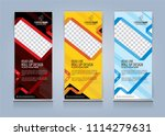roll up banner template design... | Shutterstock .eps vector #1114279631