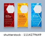 roll up banner template design... | Shutterstock .eps vector #1114279649