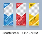 roll up banner template design... | Shutterstock .eps vector #1114279655