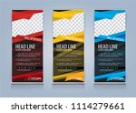 roll up banner template design... | Shutterstock .eps vector #1114279661