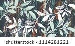 seamless botanical pattern.... | Shutterstock . vector #1114281221
