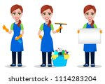 cleaning company staff in...   Shutterstock .eps vector #1114283204