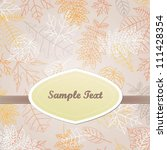 vector invitation card with...   Shutterstock .eps vector #111428354