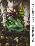 organic vegetables. farmers... | Shutterstock . vector #1114284431