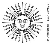 sun of may  sol de mayo  symbol ... | Shutterstock .eps vector #1114289579