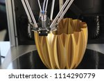 work 3d printer. printing 3d... | Shutterstock . vector #1114290779