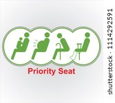 priority seat icon  for train... | Shutterstock .eps vector #1114292591