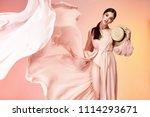 brunette hair woman beautiful... | Shutterstock . vector #1114293671