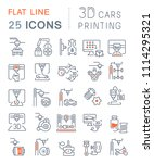 set of vector line icons  sign... | Shutterstock .eps vector #1114295321