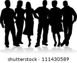 group of people | Shutterstock .eps vector #111430589
